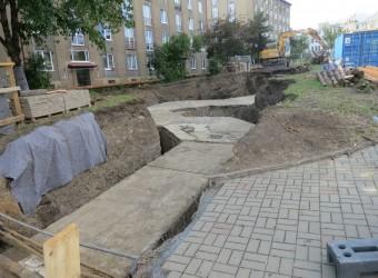 Oprava tepelného napaječe DN 600 Litevská